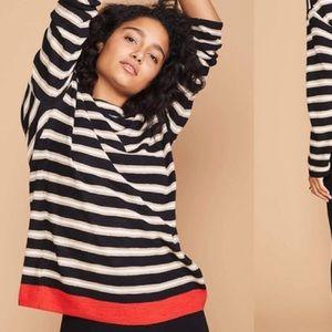 Lou & Grey Stripe Tunic Sweater